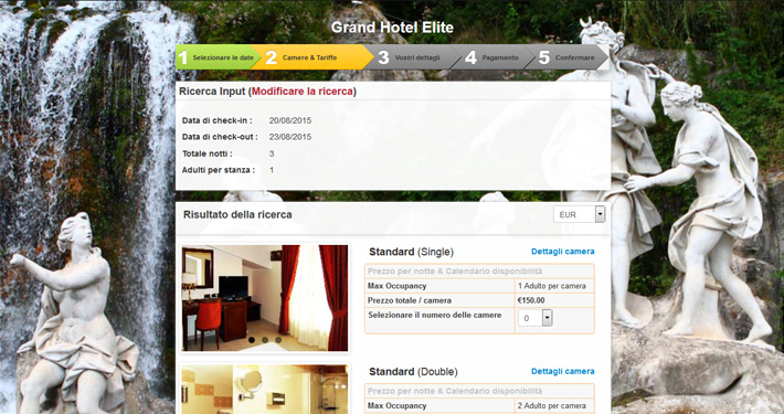 booking engine per hotel